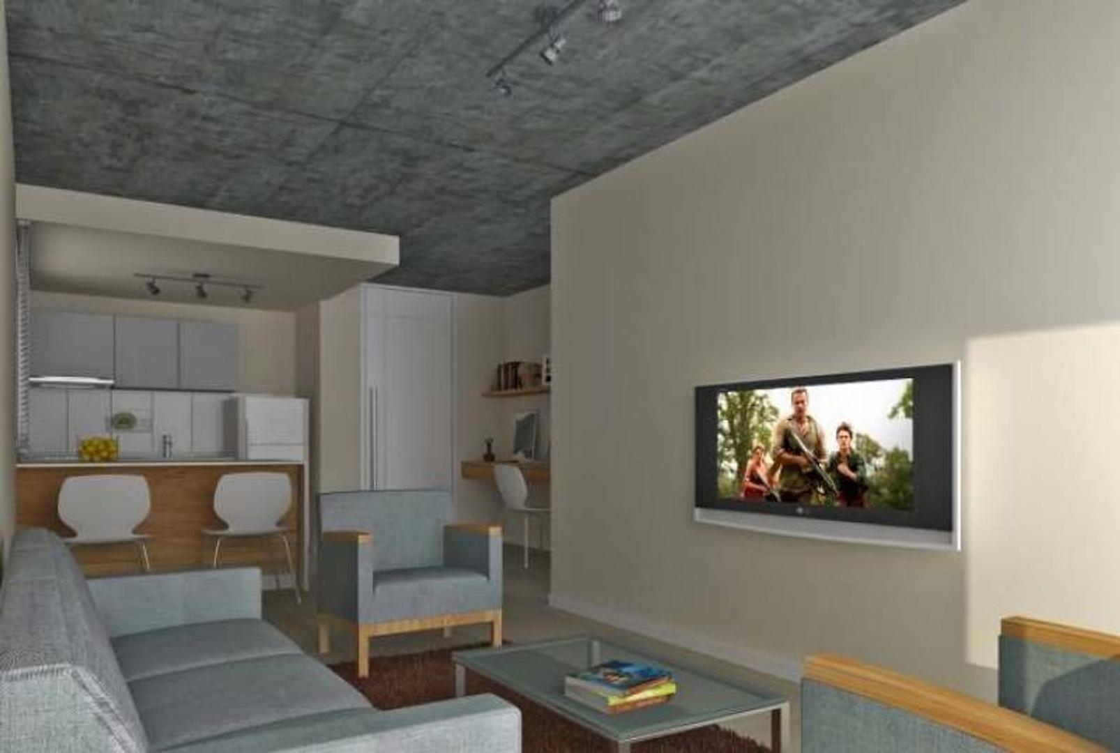 1 Dormitorio con Patio frente a UNR Medicina