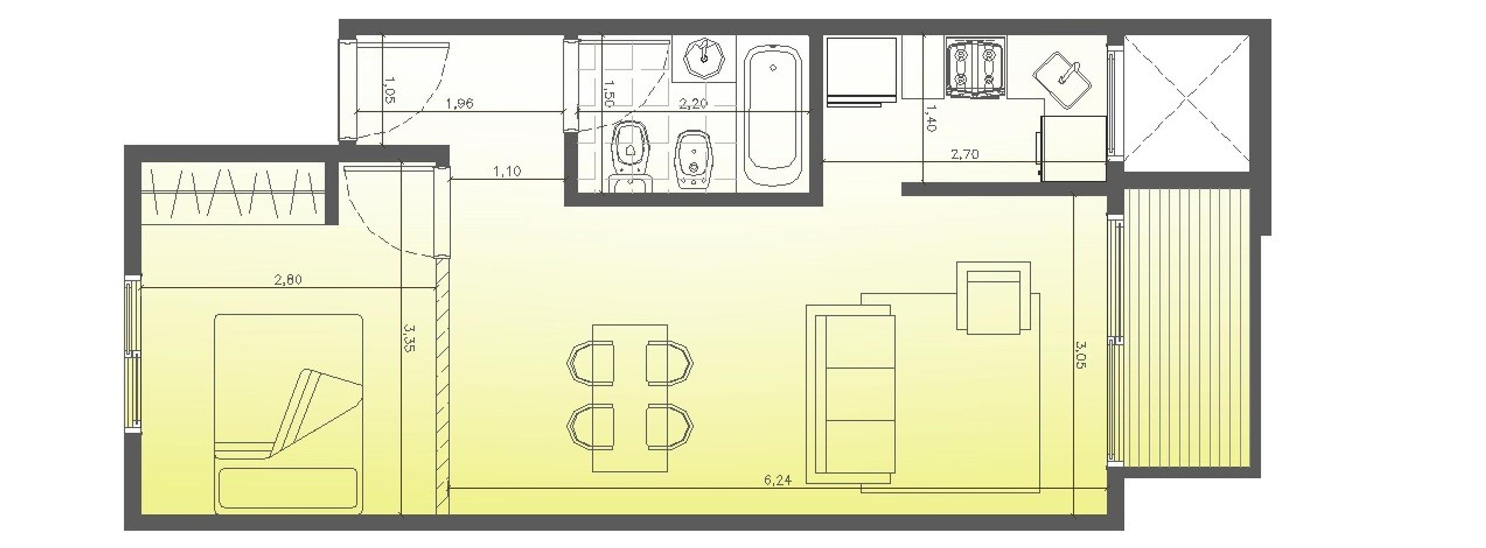 Departamento 2 amb+ balcon + cochera en pozo en pesos financiado villa del parque