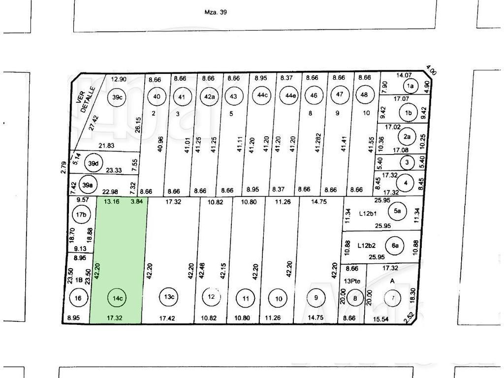 Terreno de 723 m2 - Olivos-Vias/Maipu