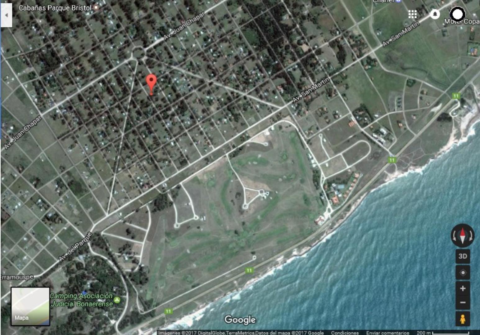 Excelente Lote Terreno en Balneario Parque Bristol, ampliac. Miramar, Gral. Alvarado. A mts de Playa