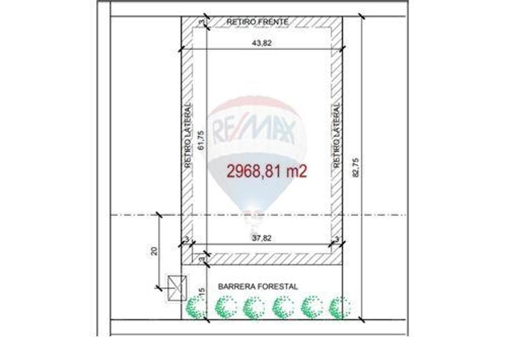 Venta 1 Lote 2968 m2 en Polo Industrial 24 Moreno