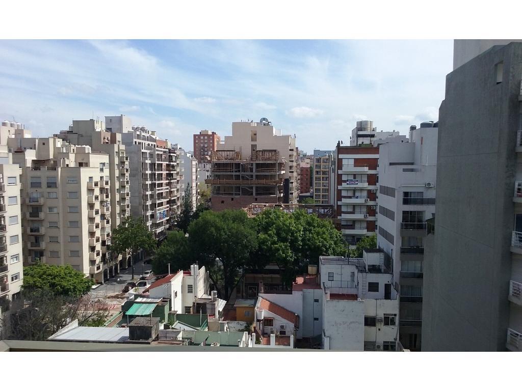 villa urquiza, hermoso departamento de 2 ambientes al frente con balcon cocina , lavadero y baño
