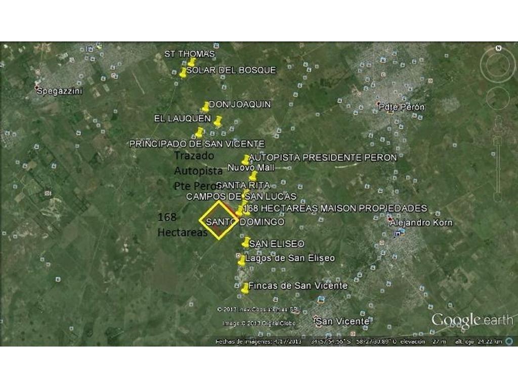 168 hectáreas para desarrollo urbanístico. La entrada del campo se encuentra sobre la ruta 58