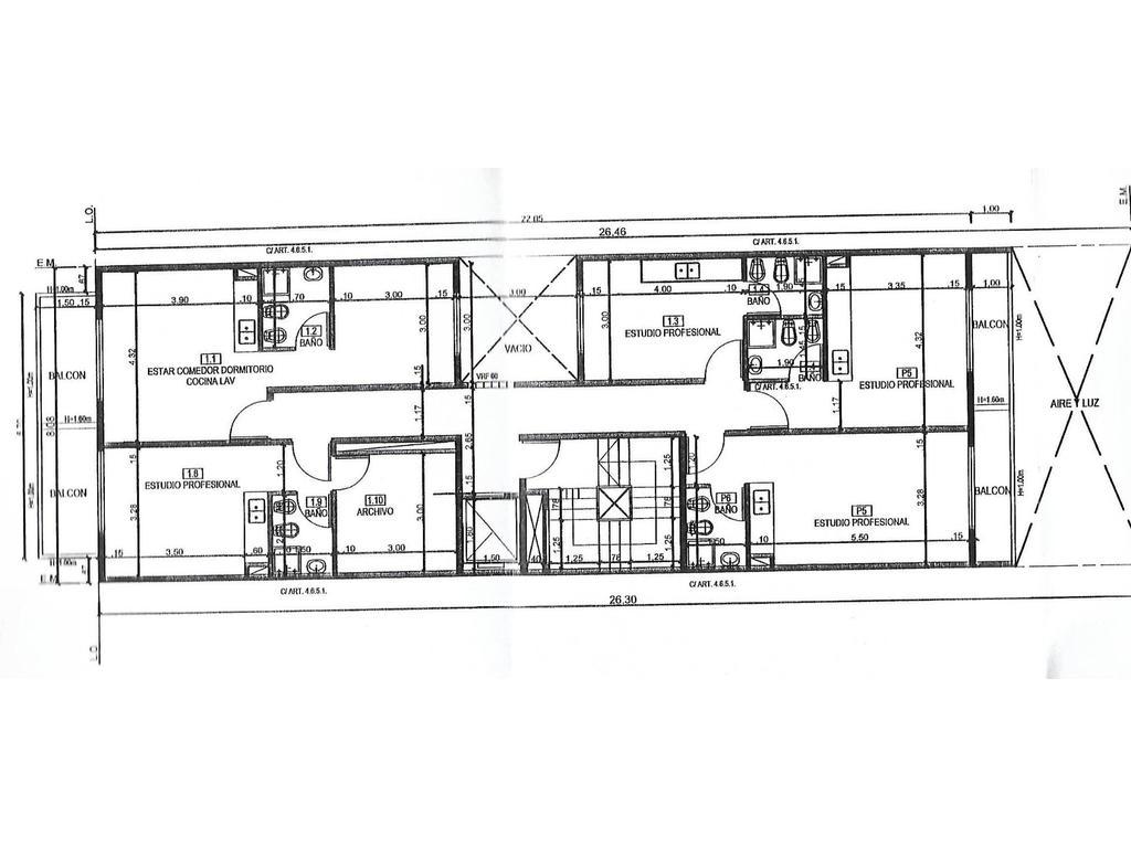 VENTA EN POZO - VILLA LURO - AV. RIVADAVIA 9685- 1 ambiente c/balcon
