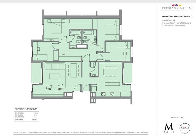 Departamento en Venta de 117,0 m2