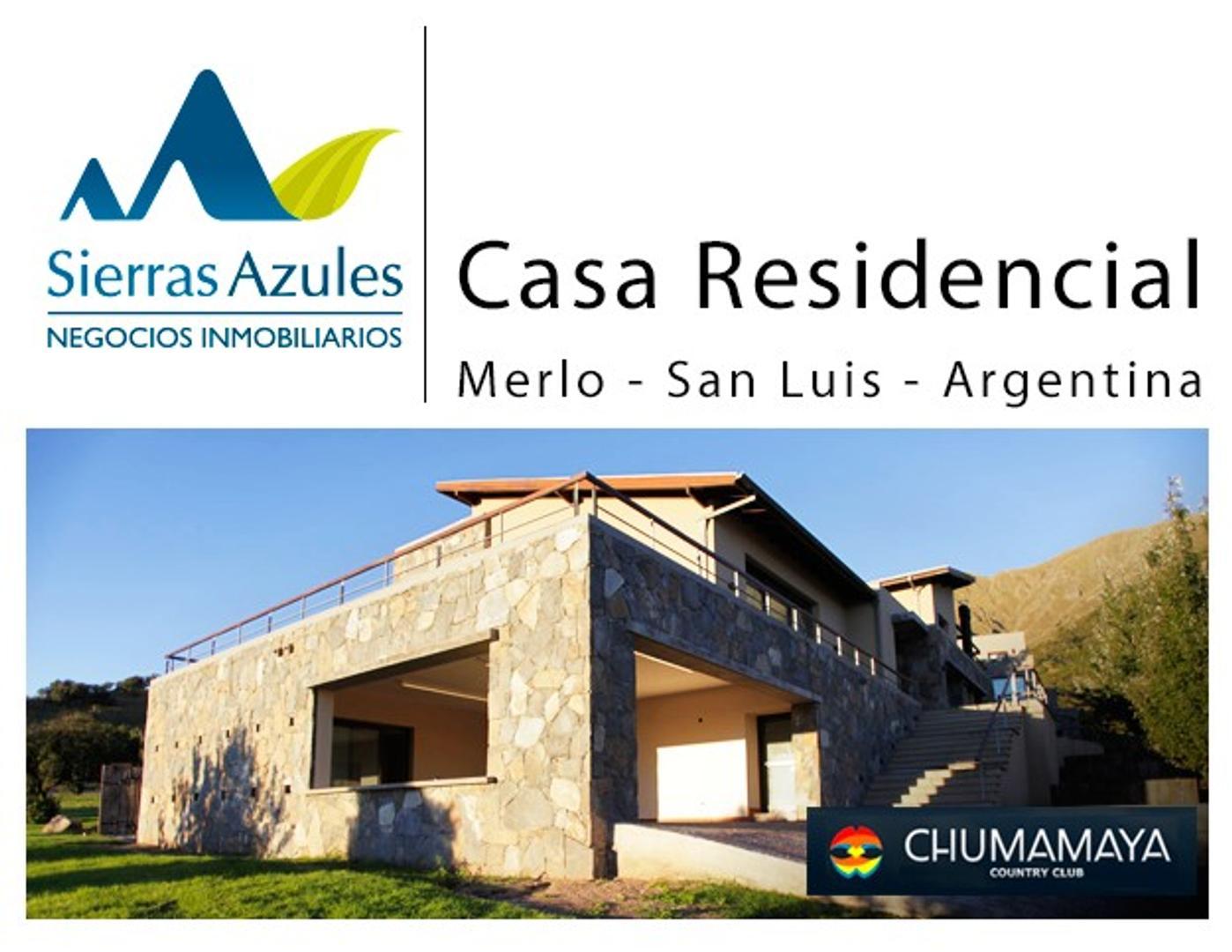 Casa en Venta - Country Chumamaya -Merlo