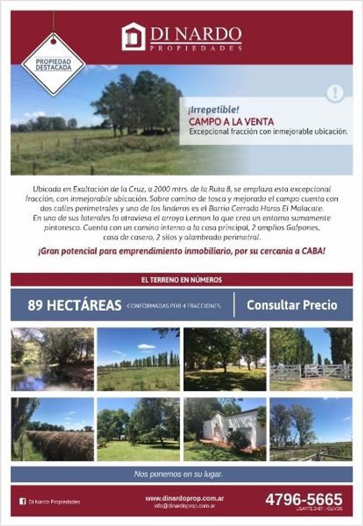 Campo en Venta en Exaltacion De La Cruz