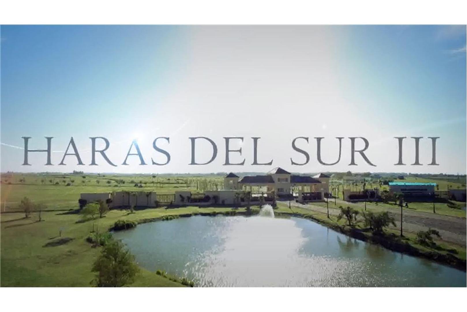 LOTE EN HARAS DEL SUR III - BARRIO LOS ÁLAMOS