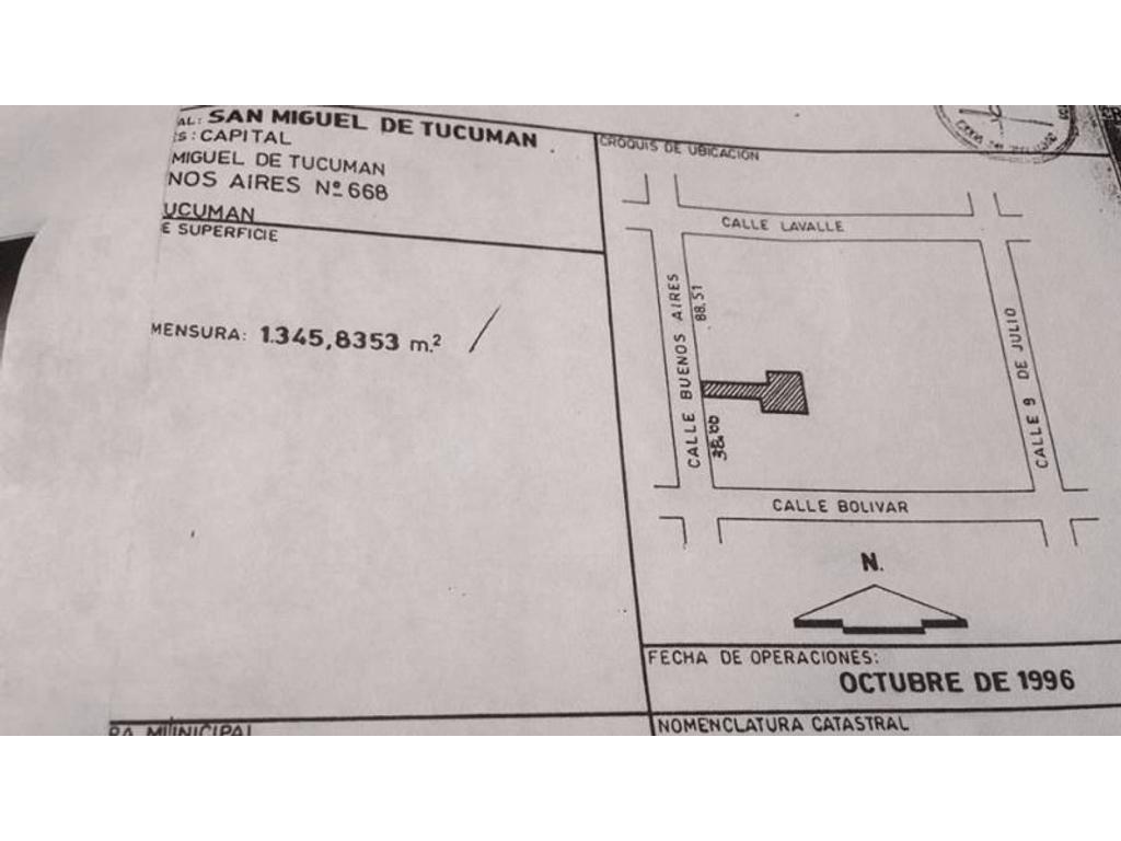 Excelente oportunidad!!! Venta Amplia propiedad de 1345 m2 en una inmejorable ubicación en SM de Tuc