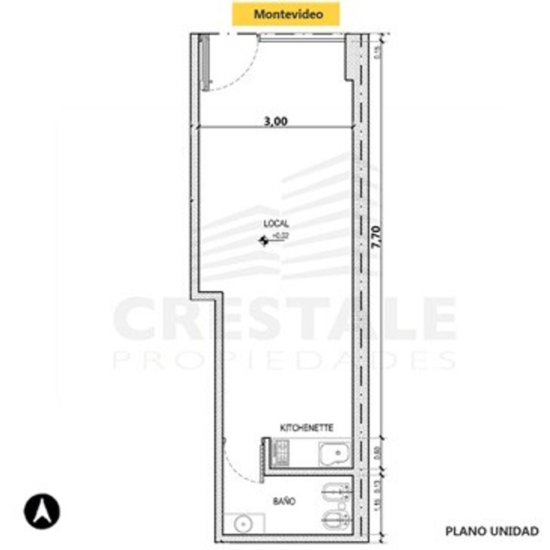 Montevideo y Pueyrredón - Local comercial a la venta