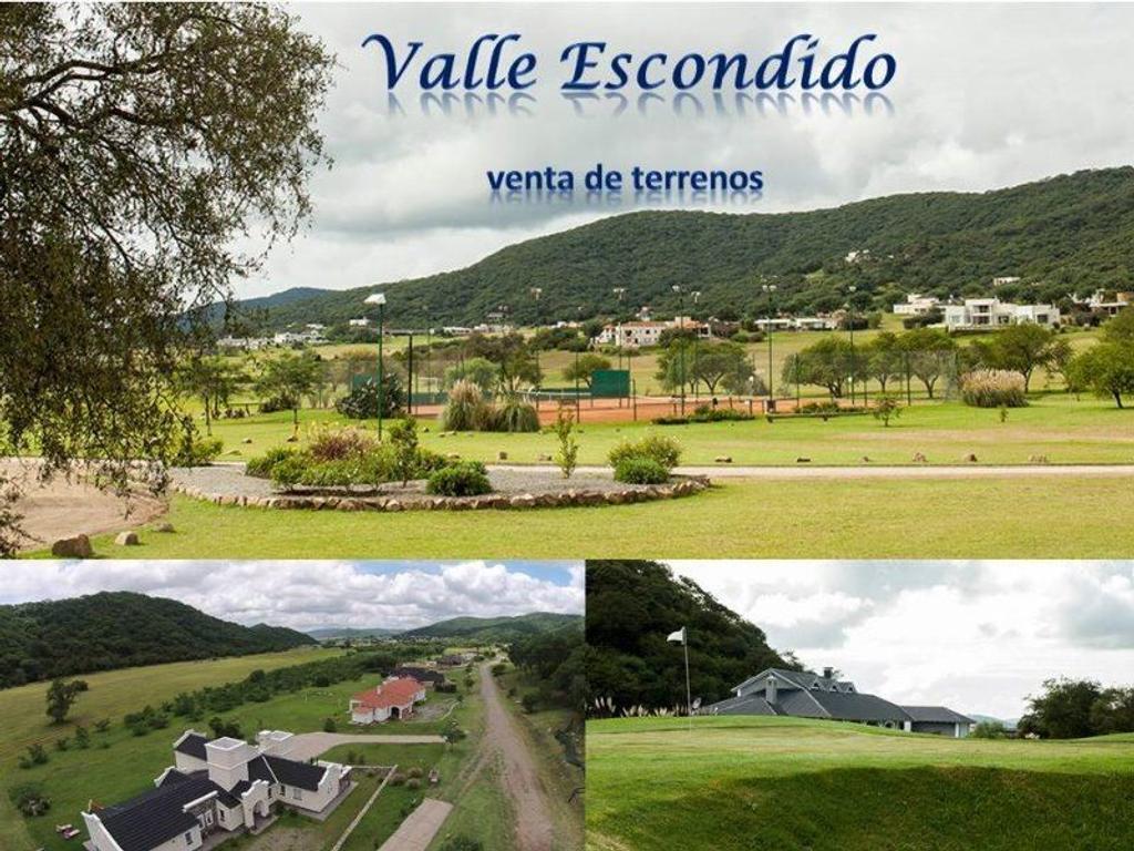 Vendo Terrenos en Valle Escondido
