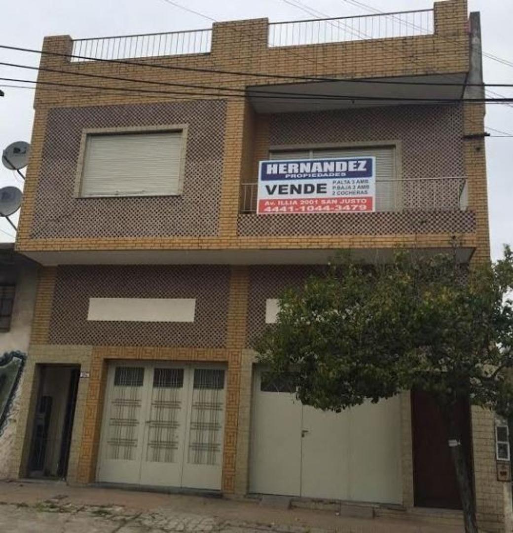AMPLIA CASA 3 AMB. P.A. + 2 COCHERAS + DEPTO 2 1/2  AMB. AL FONDO / LA TABLADA