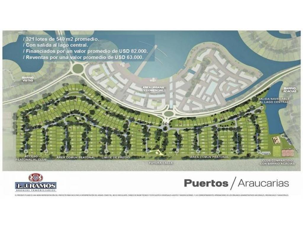 PUERTOS - BARRIO ARAUCAURIAS - RAMAL ESCOBAR KM 45 - LOTE 88 - 100