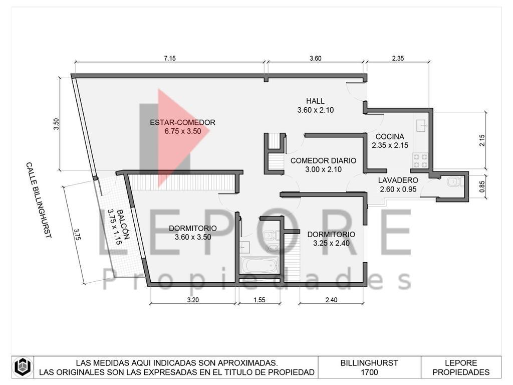 3 ambientes con dependencia venta Billinghurst 1774 2º
