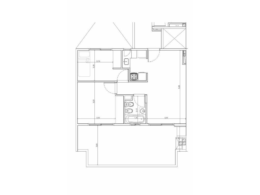 Departamento 3 amb + terraza + parrilla en pozo en pesos financiado villa del parque 1DTO  X PISO!