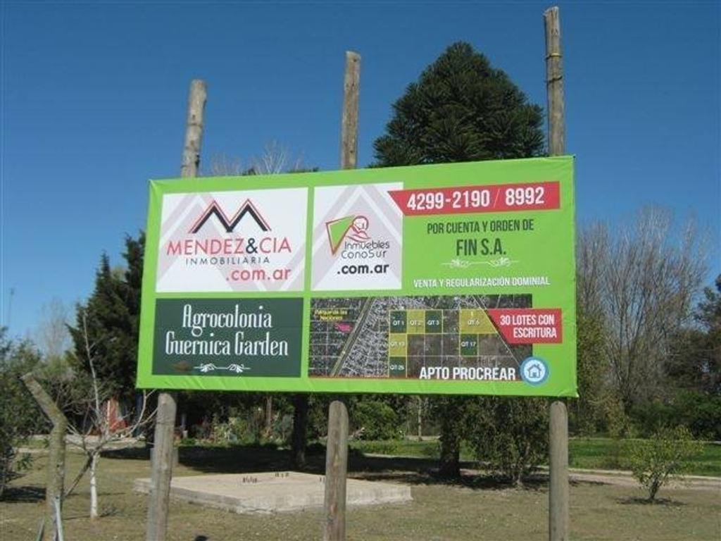Lote - Venta - Argentina, Guernica