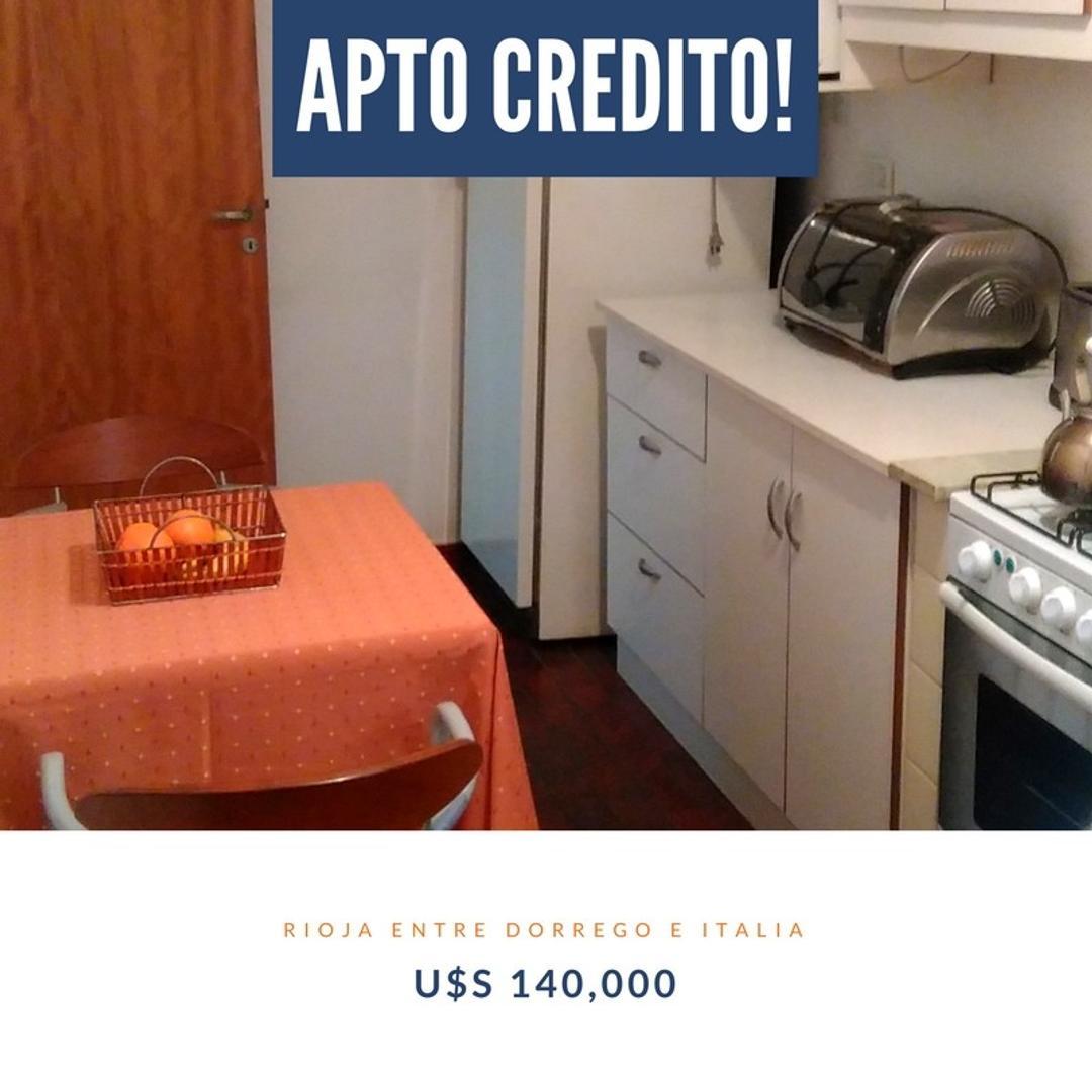 ¡Venta 2 dormitorios apto credito! Rioja / Dorrego