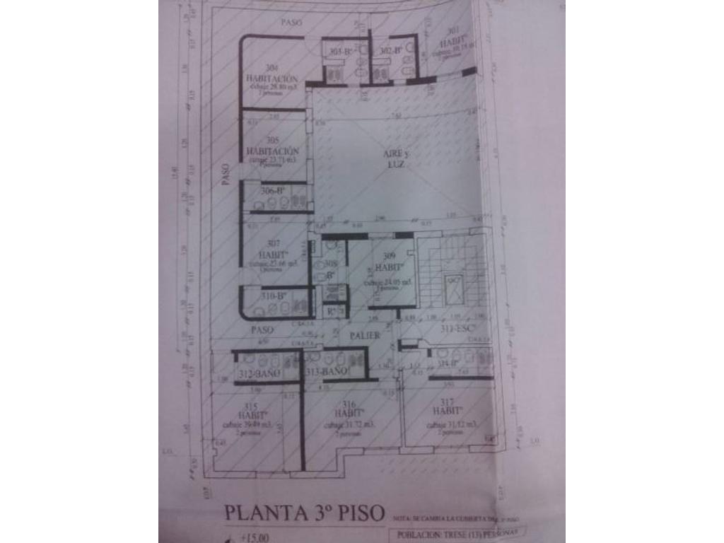 EDIFICIO DE 3 PISOS (PH) A RECICLAR APTO TODO DESTINO