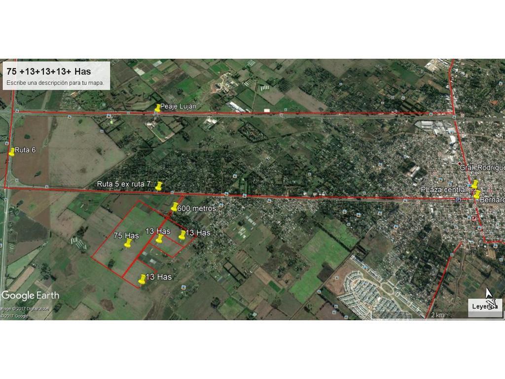 75+13+13+13 Has agricolo y varios destinos a 700 mts ruta ex 7 .Venta conjunta o separada.