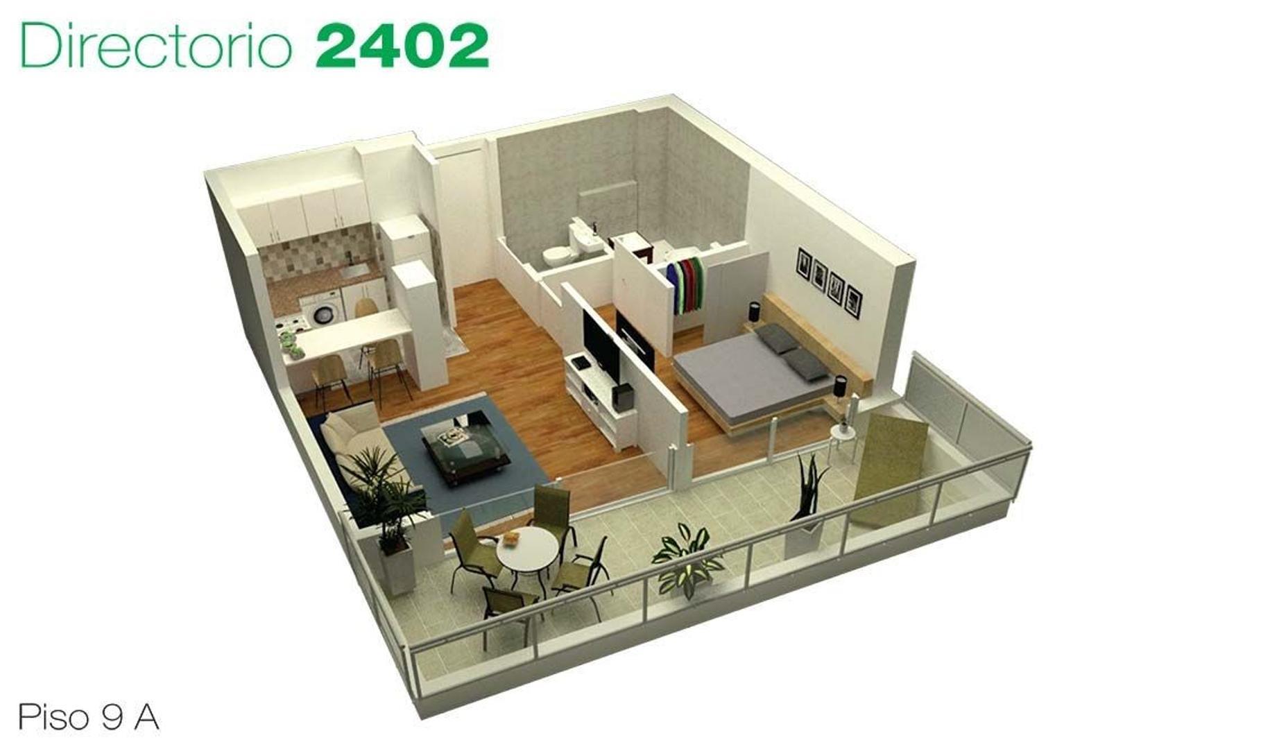 Depto en Venta . 2 ambientes c/terraza . Desarrollo en Flores / Pza Misericordia . Directorio 2402