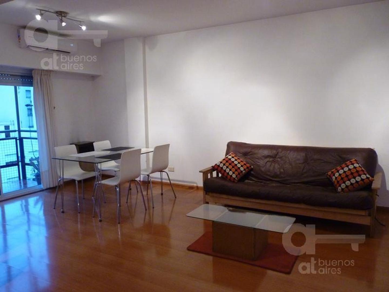 2 ambientes en alquiler temporario. Belgrano. Sin garantía. Dos balcones.