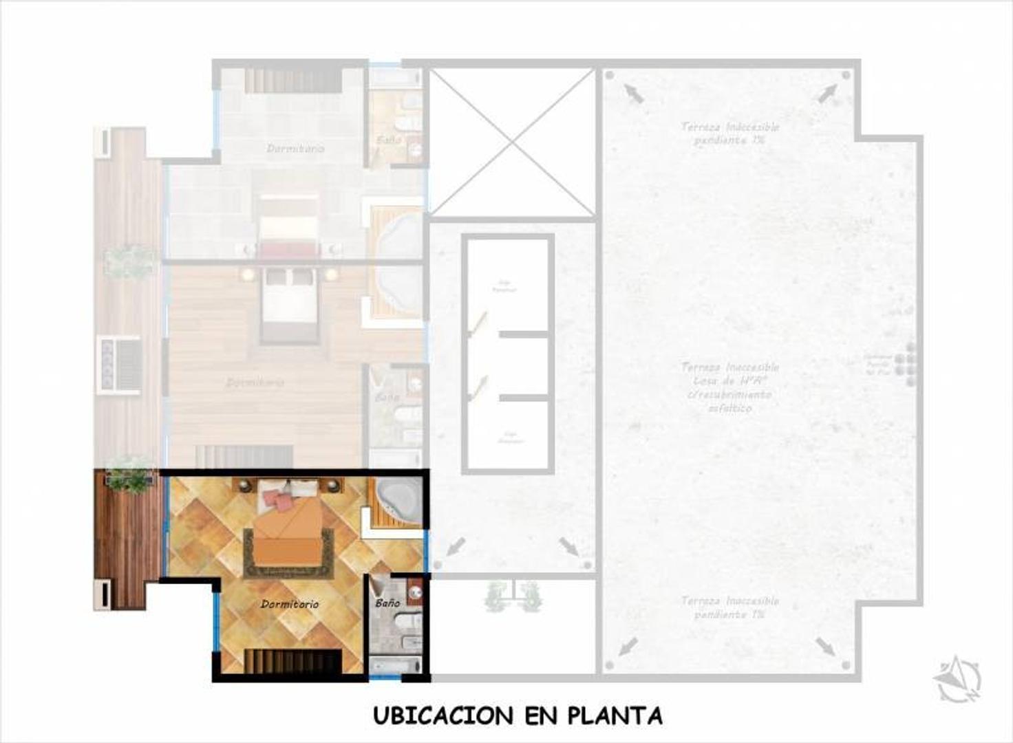 Departamento - 117 m²   1 dormitorio   2 baños
