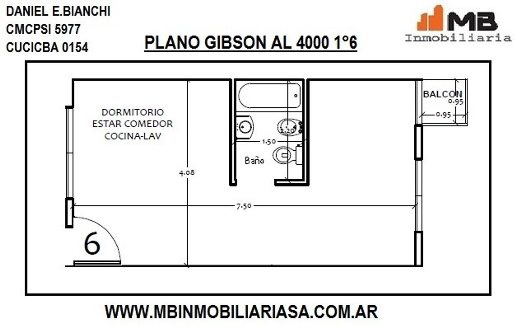 Boedo venta monoamb.en construcción c/balcón en Gibson al 4000 1°6