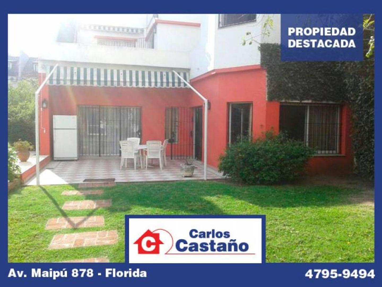 Solida Casa en Doble Lote   Galpon - Chacabuco 900 Florida