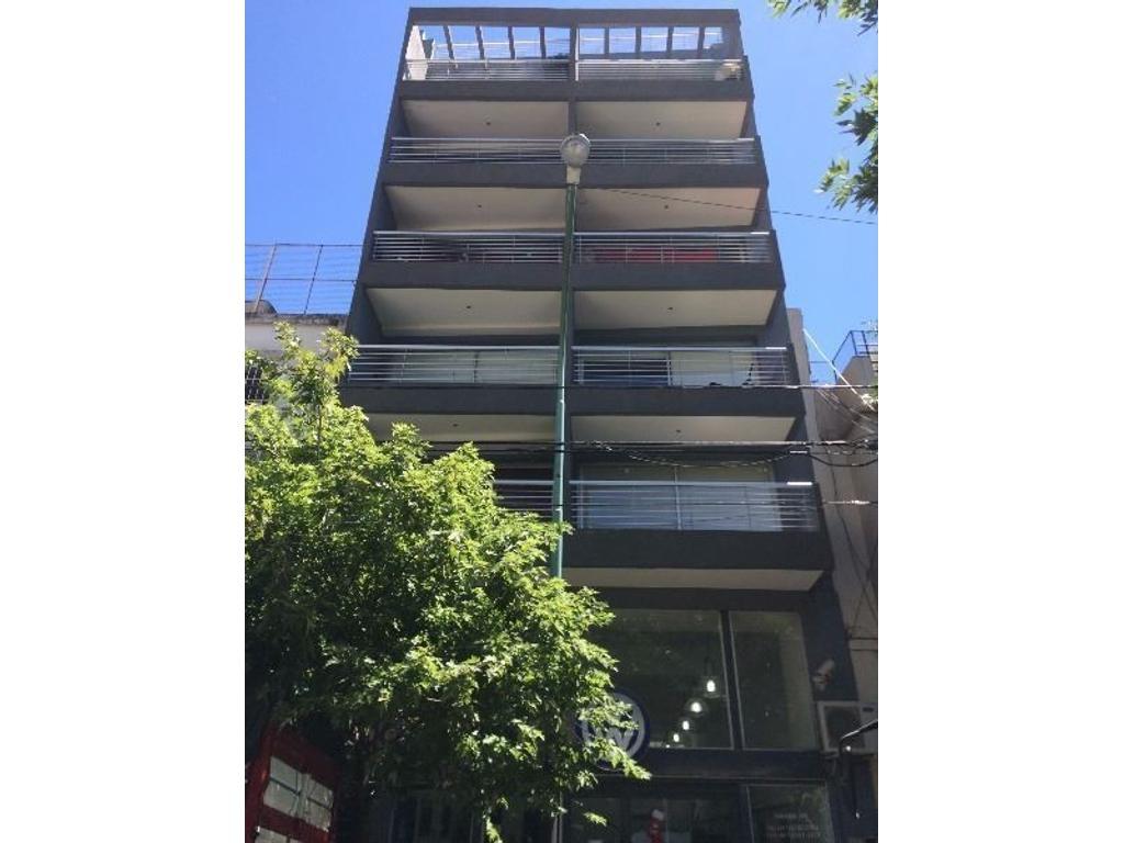 Departamento de 1 ambiente con balcón contrafrente