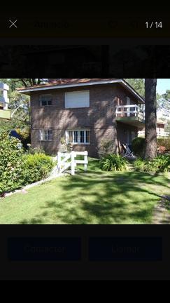Dueña alquila casa en barrio norte de villa Gesell con jardín y parrilla propia equipada para 6 pers