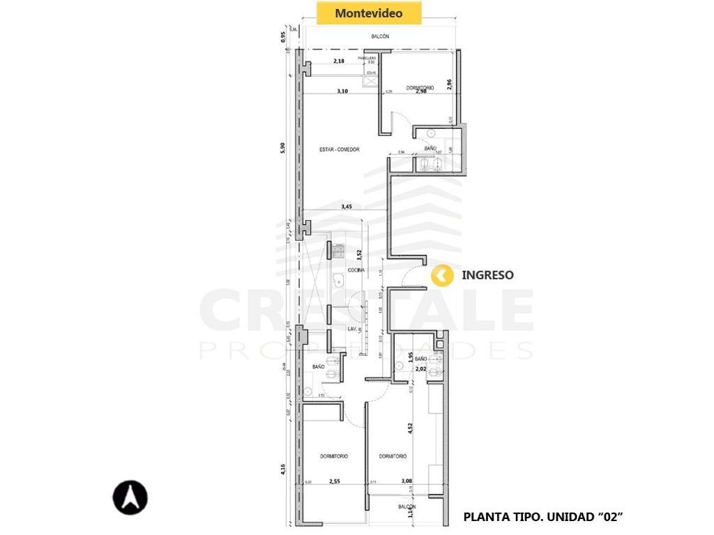 Montevideo y Pueyrredón - Departamento 3 dormitorios a la venta