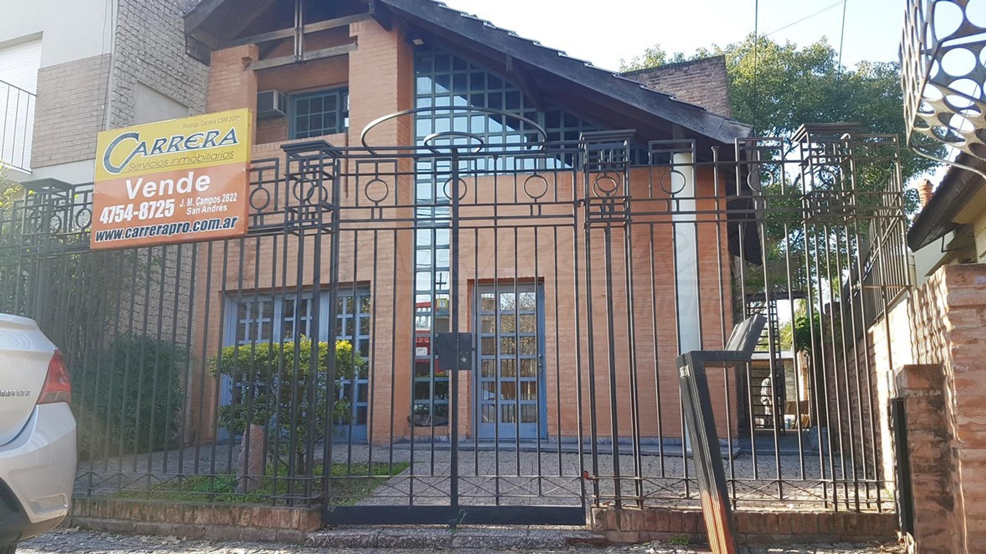 VENTA CASA 4 amb - en San Andres, Pcia de BSAS – www.carreraprop.com.ar  - tasamos HOY