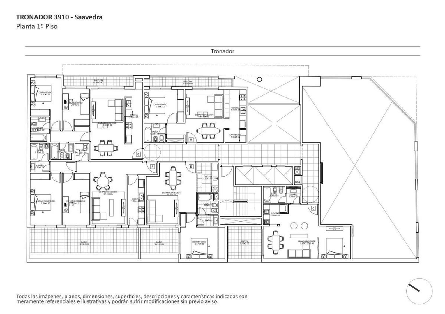 Departamento en Saavedra con 1 habitacion