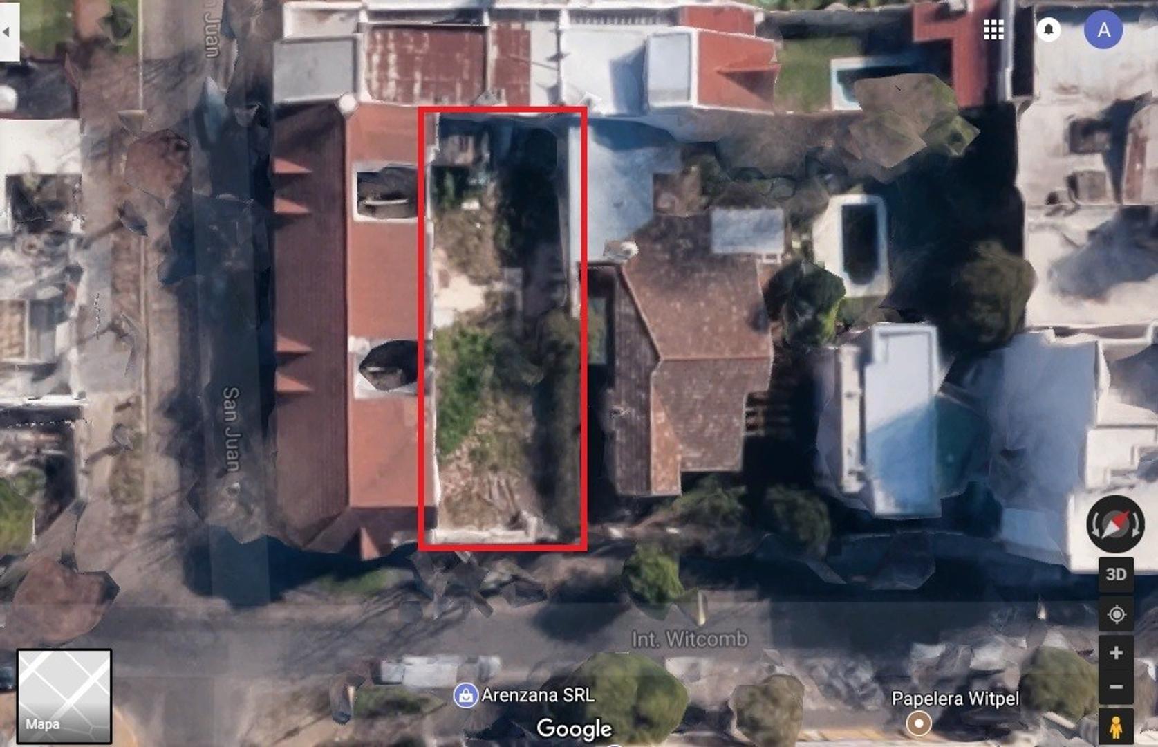 Terreno 10x30 con proyecto 1150 m2 ingresado ex zona RA actual RM2