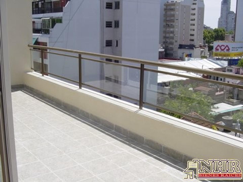 Excepc S/Piso 2 ambientes al frente con balcón terraza y coch Apto crédito Dorm en suite +toil