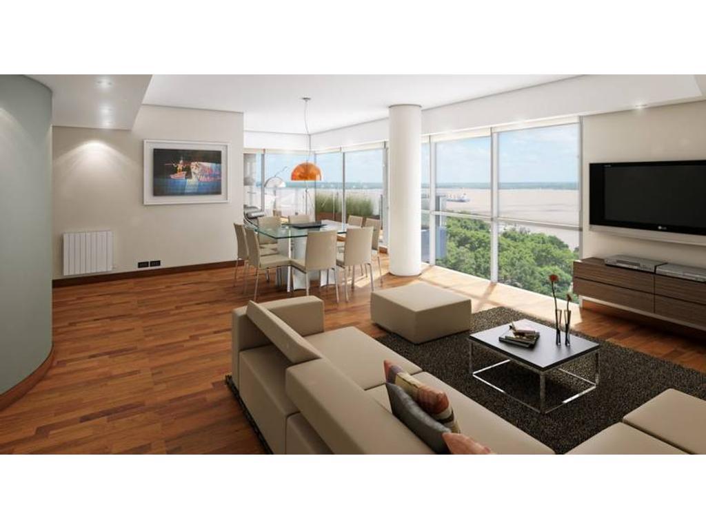 Piso exclusivo de 3 dormitorios con balcón terraza en torre PREMIUM