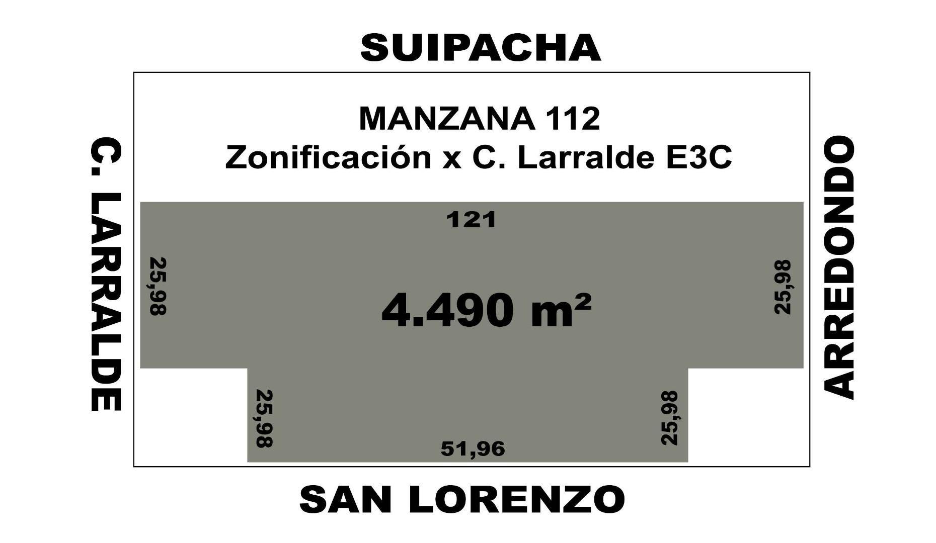 IMPORTANTE FRACCCION 4490M2 IDEAL DESTINO COMERCIAL