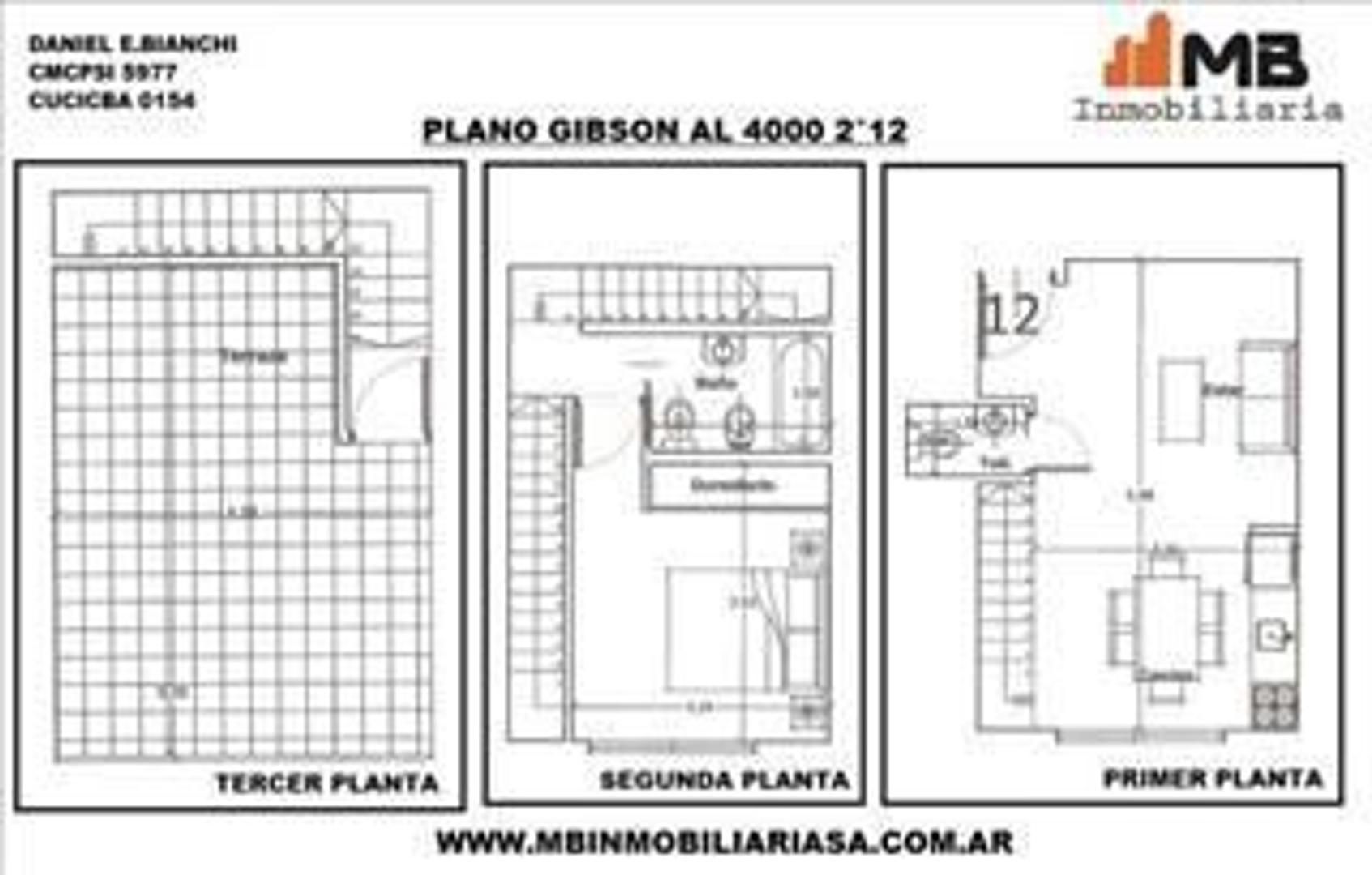 Boedo venta en pozo PH 2 amb.c/terraza en Gibson al 4000 2°12