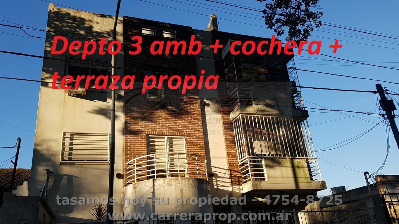 VENTA depto 3 amb + parrilla + cochera - San Andres, Pcia de BSAS – www.carreraprop.com.ar