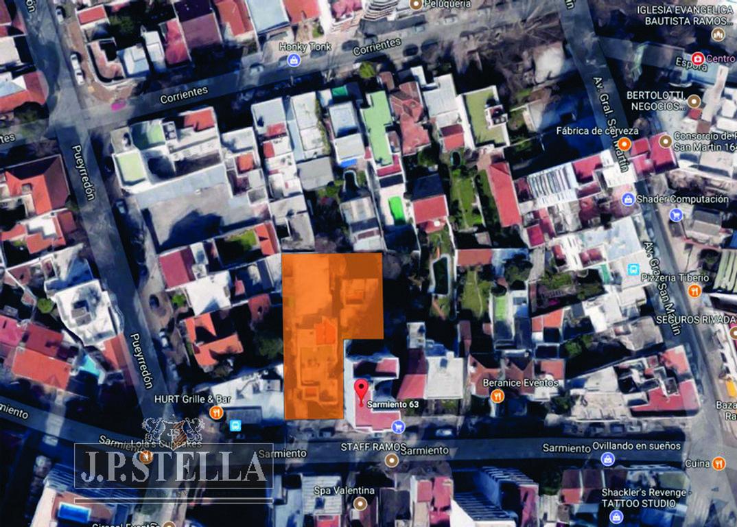 FRACCIÓN 925 m² IDEAL EMPRENDIMIENTO COMERCIAL / RESIDENCIAL – Sarmiento 63 – Ramos Mejía