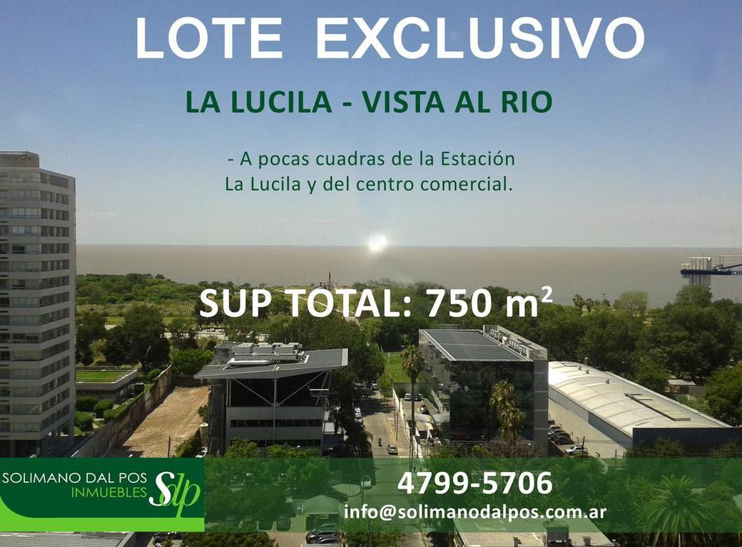 LOTE INMEJORABLE - La Lucila – Vista al Río - SUP. TOTAL 750 mts2 aprox.