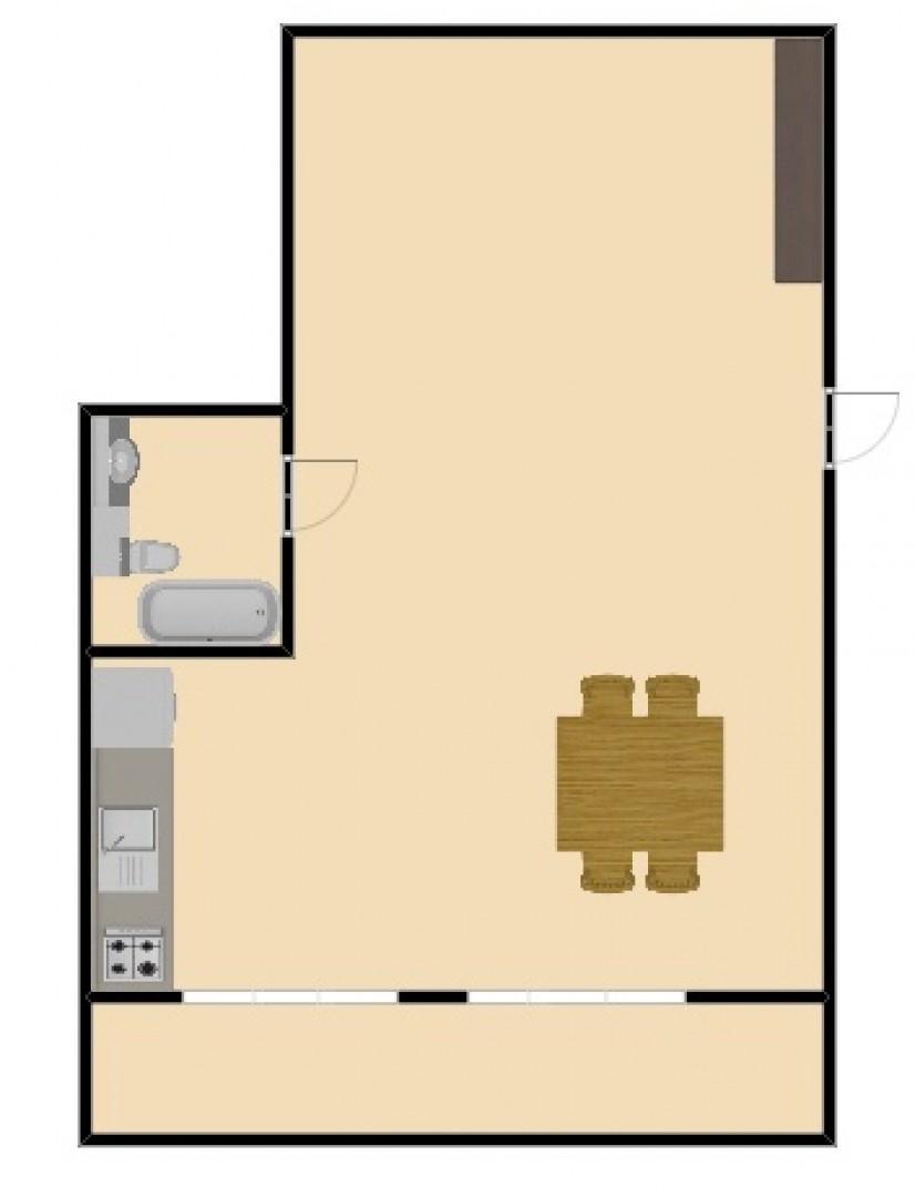 MONOAMBIENTE 1er piso x esc. AL FRE
