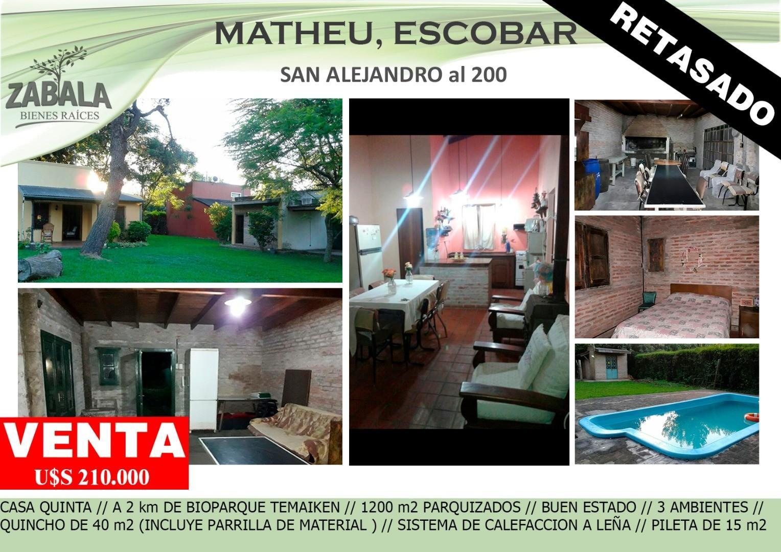 Excelente Casa-Quinta - 1200 m2 - NUEVO VALOR - Escucha Ofertas !!!!!!