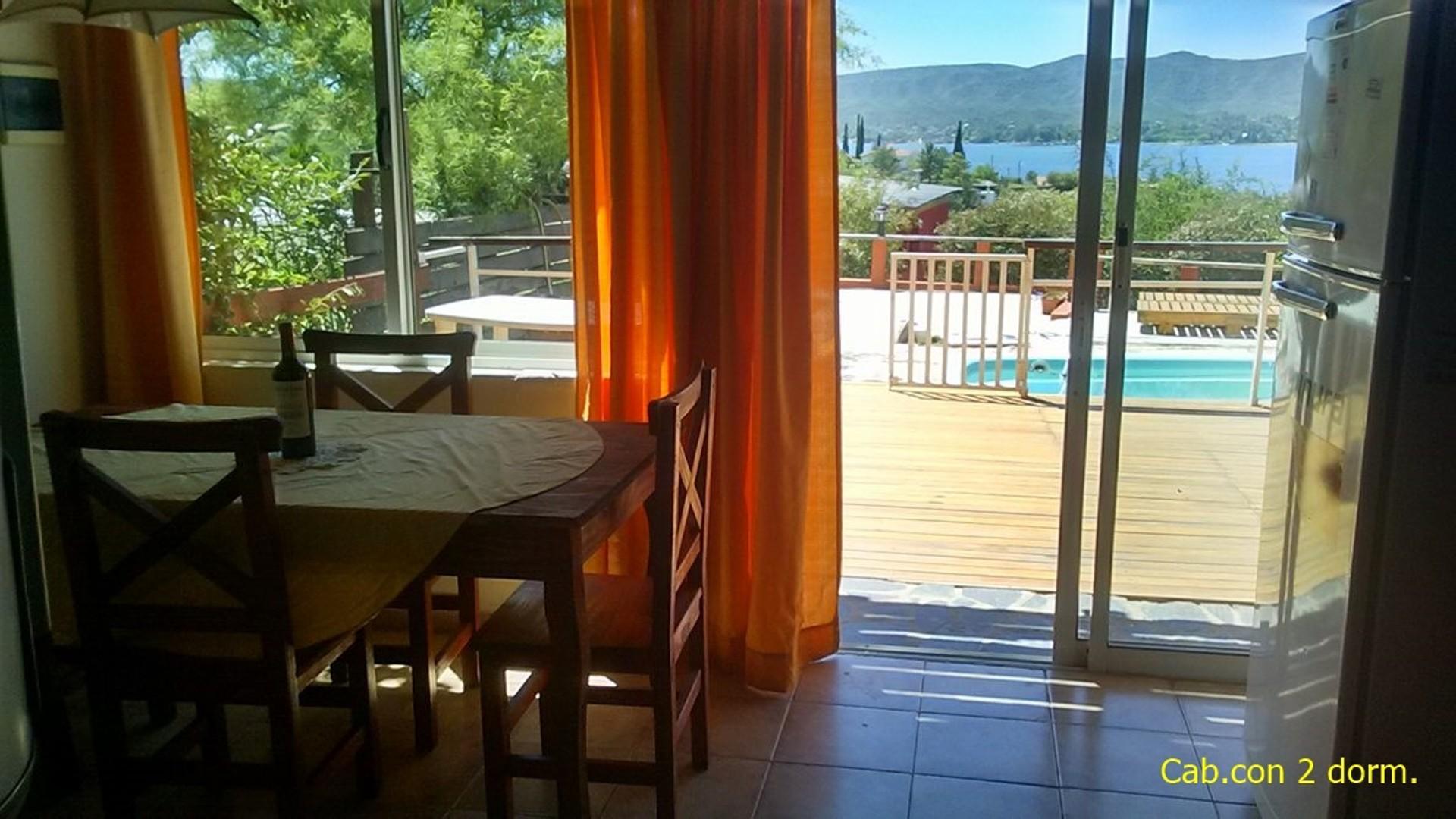 Villa Carlos Paz - Oportunidad - 3 cabañas con 2 dorm. con vista al lago.