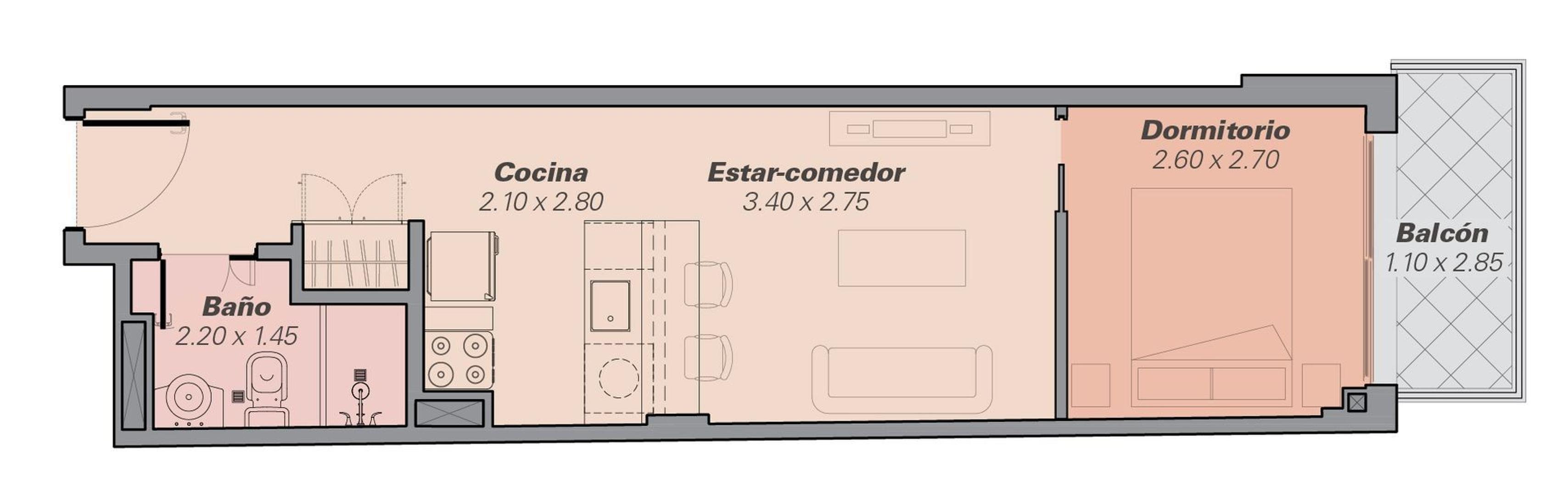 Departamento en Venta en San Telmo