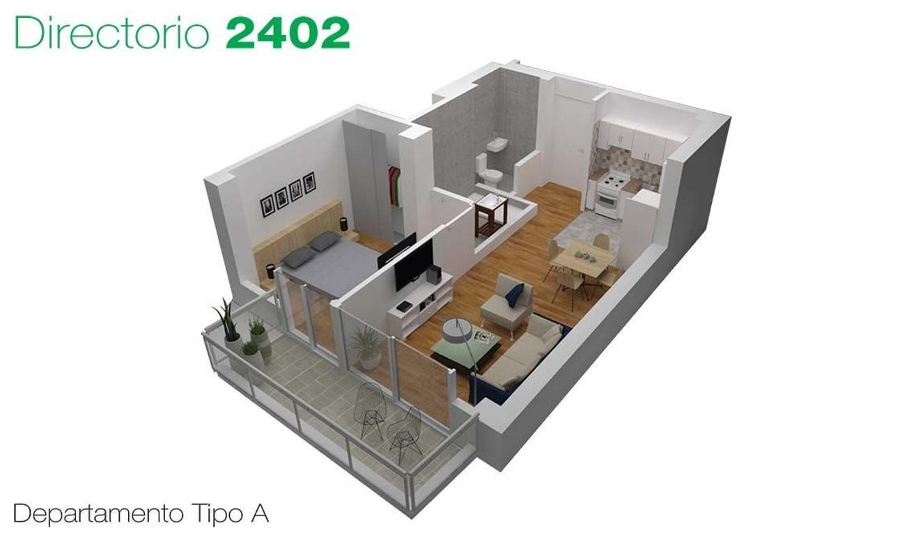 Depto en Venta . 2 ambientes c/balcon . Desarrollo en Flores / Pza Misericordia . Directorio 2402