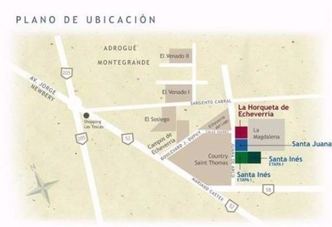 HERMOSO LOTE EN BARRIO SANTA INES 2!!! BAJAS EXPENSAS!!!! A SOLO 5 MINUTOS DEL SHOPPING LAS TOSCAS!!