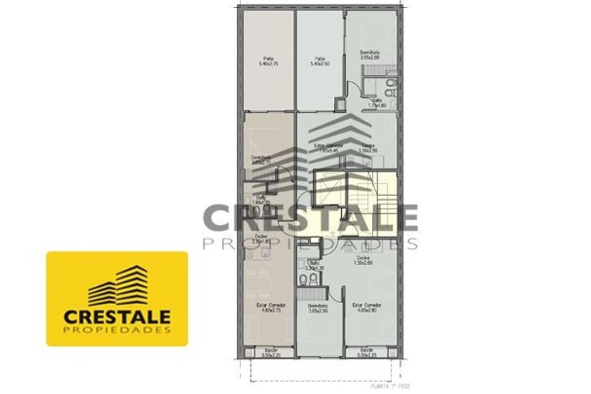 Italia y Cochabamba  - Departamento 1 dormitorio a la venta