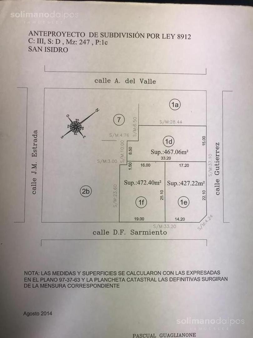 Terreno en Venta en Martinez Vias / Libertador