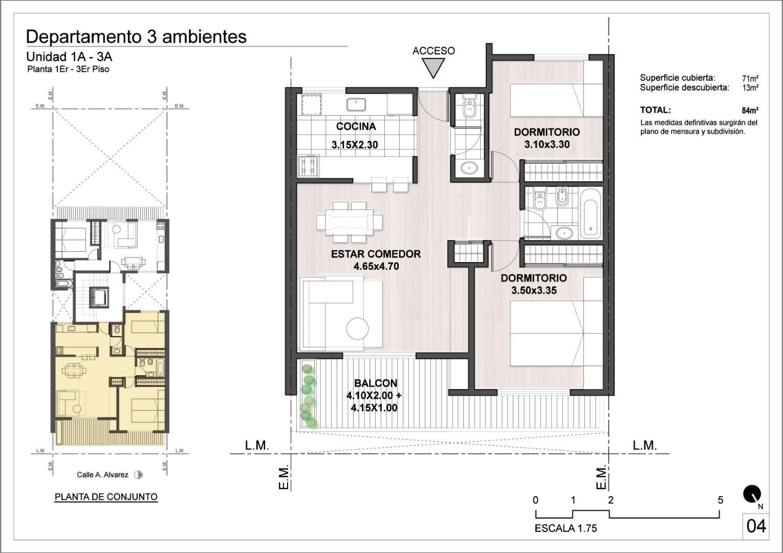 Departamento en Villa Ballester con 2 habitaciones